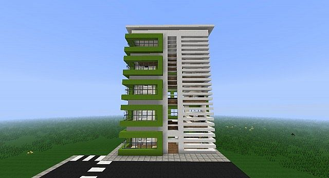 Modern apartment building minecraft project for Apartment design guide part 4