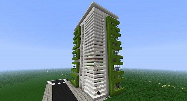 Modern Apartment Building Minecraft modern apartment building minecraft project