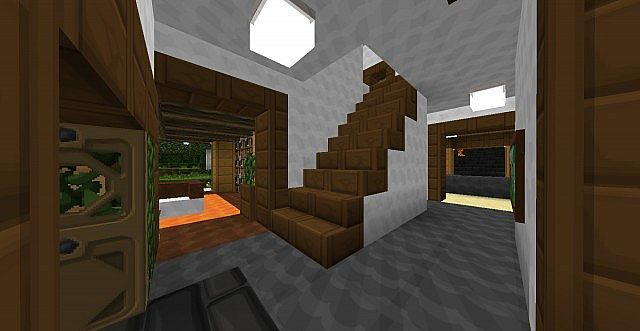 First modern house in ftb minecraft project for Minecraft foyer ideas