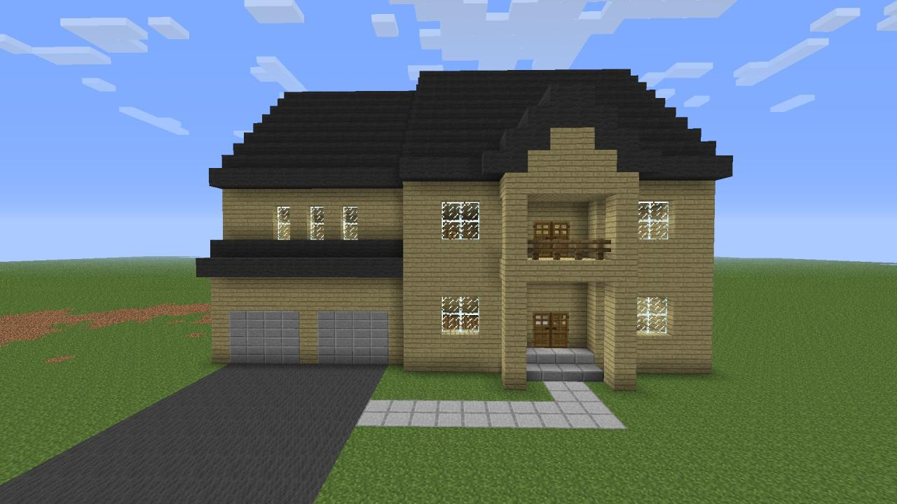 realistic suburban house minecraft project