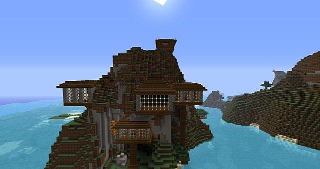 Hillside Holiday Home Minecraft Map