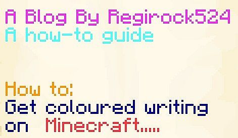 How To Get Coloured Text In Your Book And Quill Minecraft Blog