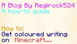How to get coloured text in your book and quill Minecraft Blog Post