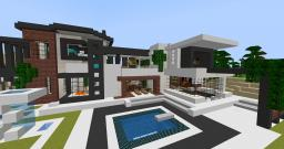 Modern Mansion (10 rooms + 6 pools) Minecraft Map & Project