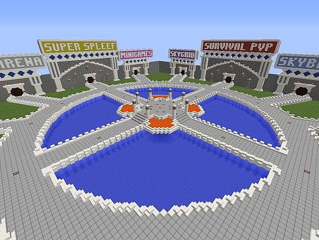 Large Server Spawn Minecraft Project
