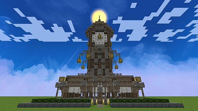 Medieval Clock Tower House Minecraft Map