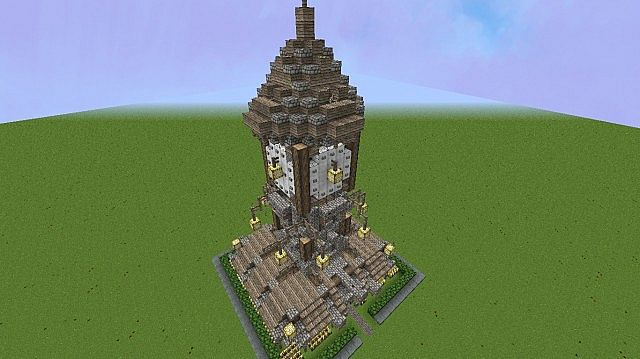 Medieval Clock Tower Minecraft Medieval Clock Tower House