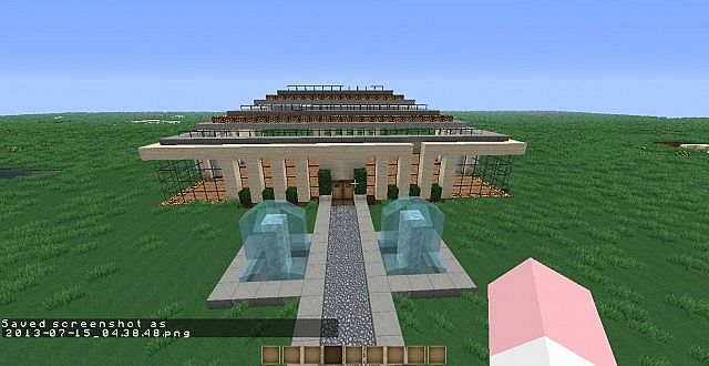 amazing modern house minecraft project