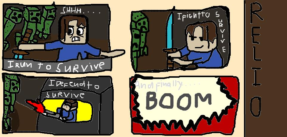 creeper survive my very own first comic minecraft blog