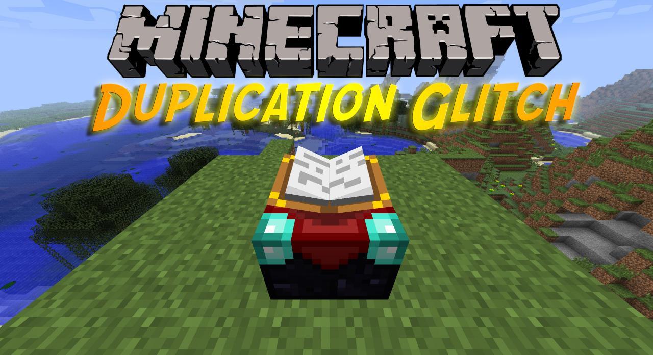minecraft pc duplication glitch