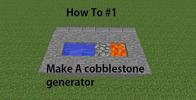 How to make a cobblestone generator minecraft blog for How to build a blog