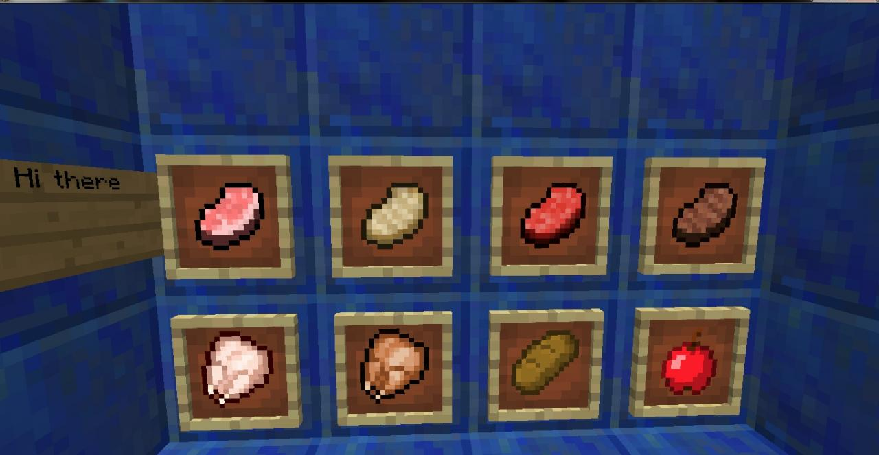 1 6 2]Old Food Textures Resource Pack Minecraft Texture Pack