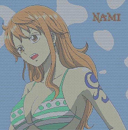 Nami Pixel Art Minecraft Project