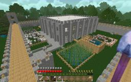 Survival Castle with Farms and Mine-cart Rail Minecraft Project