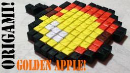 Minecraft Origami: Golden Apple BUDDER (Sonobe No Tape or Glue)! Minecraft Blog