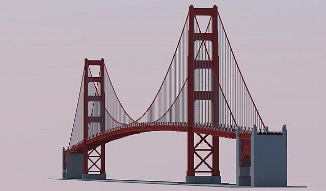 1 1 golden gate bridge minecraft project