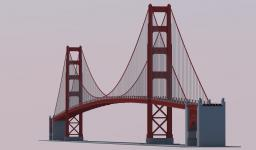1:1 Golden Gate Bridge Minecraft Project