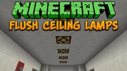 Minecraft: Flush Ceiling Lamps Tutorial Minecraft Project