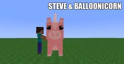 Steve & Balloonicorn Art Minecraft Blog