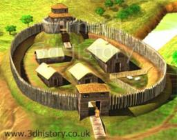 motte and bailey fort Minecraft Map & Project