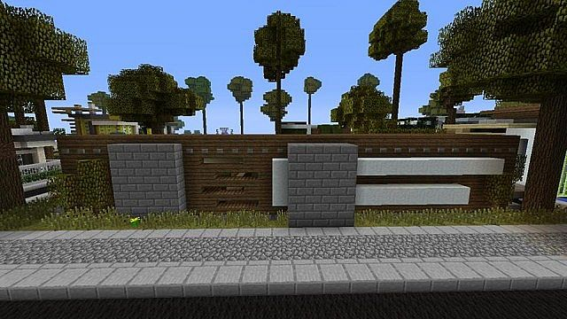 Modern minimalist house 1 minecraft project for Minimalist house minecraft