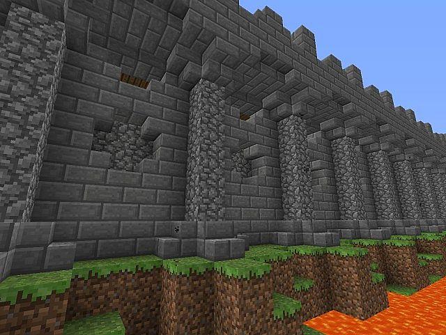 Wall Design Minecraft : City wall design minecraft project
