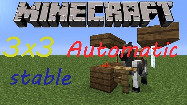 Compact Automatic Horse Stable 3x3 Minecraft Project