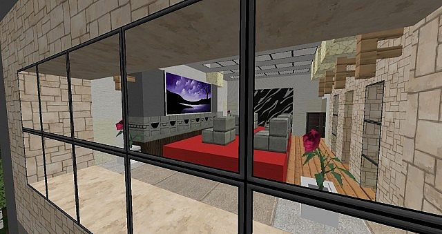 Luxury Modern House 25 Rooms Yacht Minecraft Project