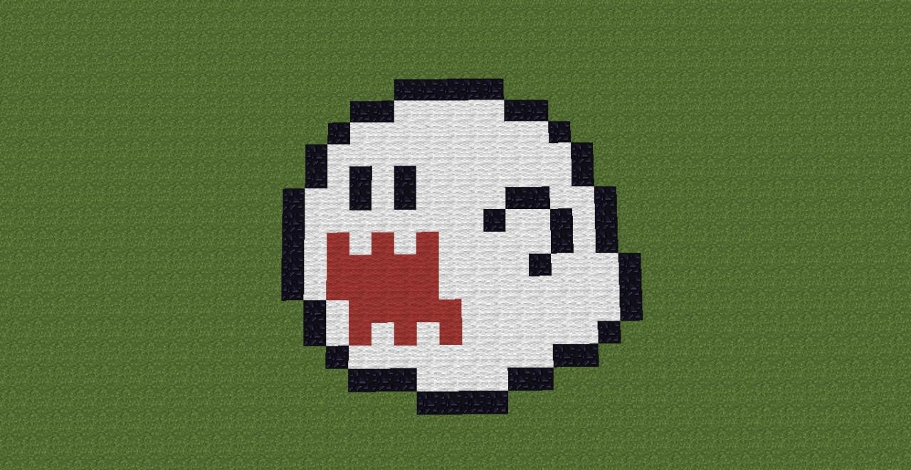 Ghost Pixel Art Minecraft Project