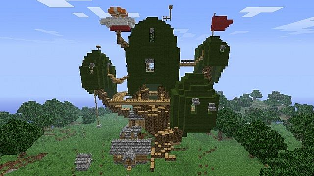 Adventure Time Tree House And Mansion Minecraft Project