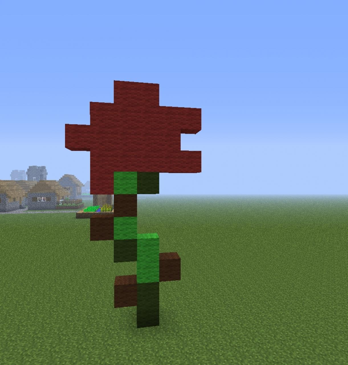 House Blogs Rose Pixel Art Minecraft Project