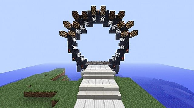 Giant working nether portal like star gate portal minecraft project - Minecraft japanese gate ...