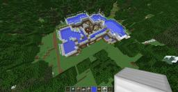 Water House With Working Cybergate to Ender,nether,and Mine Minecraft Map & Project