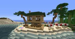 Beach Hut-Bar Minecraft Map & Project
