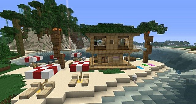 Beach Hut Bar Minecraft Project
