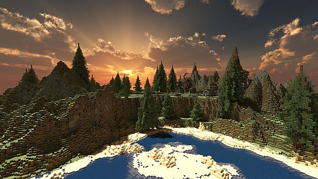 Custom minecraft island highland cliff tops with custom trees 35 diamonds sciox Image collections