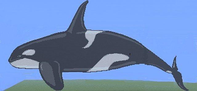 Minecraft Giant Mod Giant Orca Pixel Minecraft