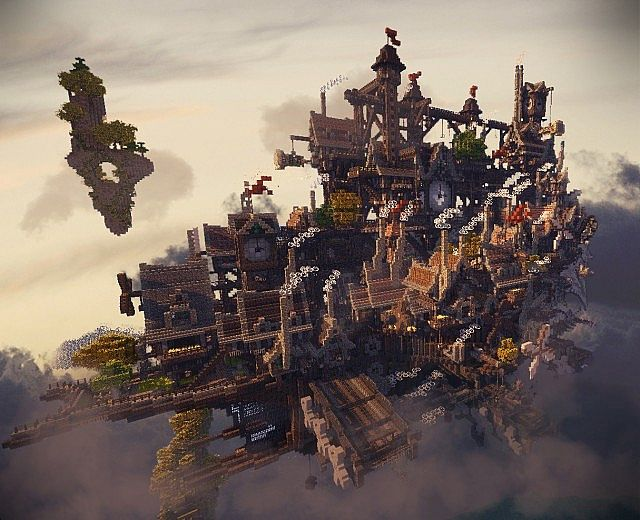 the floating city 634 cloudhaven the floating city 634 diamondsFloating City In The Sky Minecraft