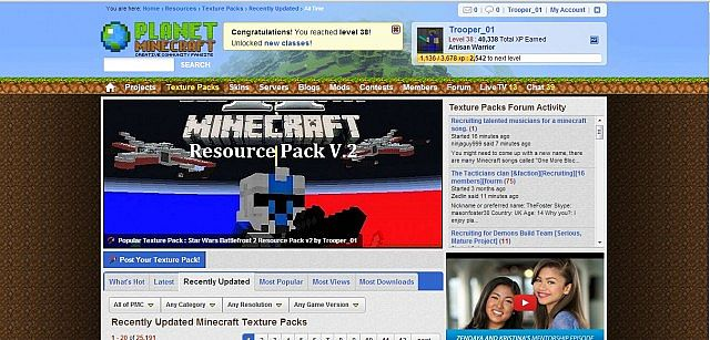 Battlefront 2 makes Texture Pack Homepage
