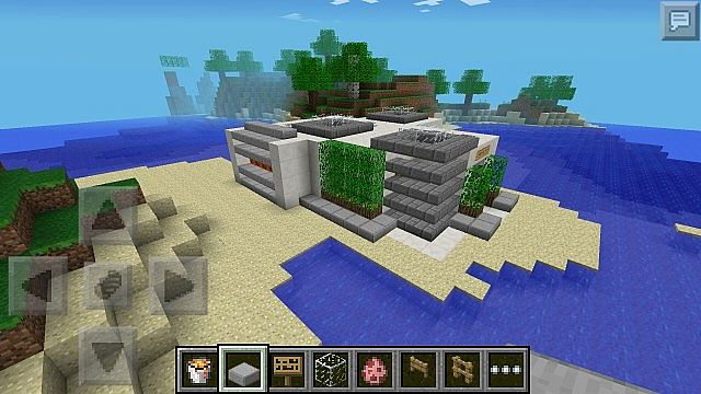 Modern House pocket edition Minecraft Project