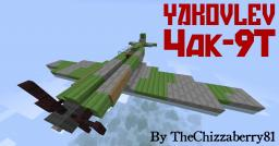 Yakovlev Yak-9T - WWII Fighter Plane Minecraft Map & Project