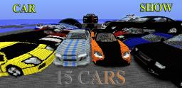 Huge 3D Car Show (15 cars done) Minecraft Map & Project