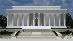 The Lincoln Memorial | 1.5:1 | BPS Minecraft Map & Project
