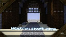 Minecraft Monster Spawn Door Large 7x13 or 4x10  ➜  NO Piston user sethbling mcedit filters Tutorial Minecraft Map & Project