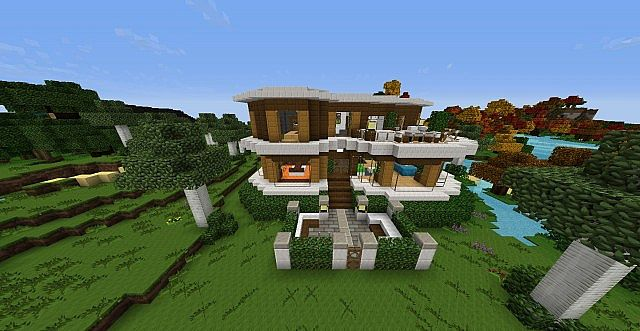 First Modern House In Ftb Minecraft Project