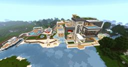 Luxury Modern House (25 rooms + yacht) Minecraft Map & Project