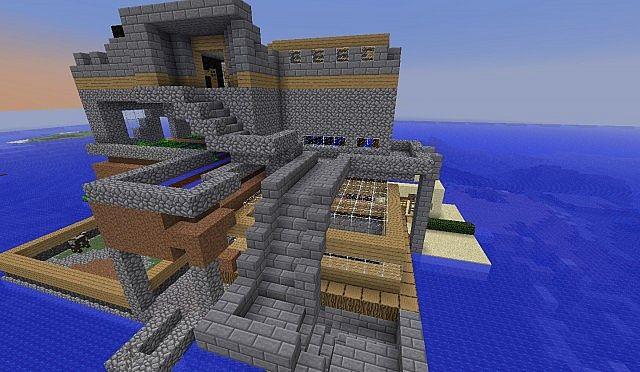 biggest survival island build ever  minecraft project