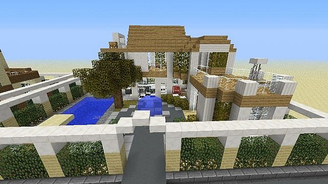 Minecraft Modern Village Minecraft Project