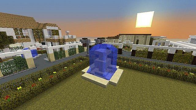 minecraft modern village