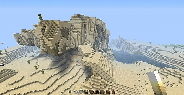 Desert Mountain Tower Minecraft Project